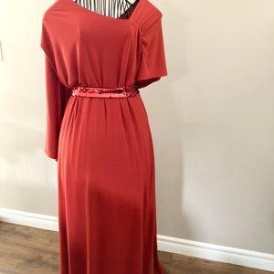 Jessica London Floor Length Asymmetrical Gown